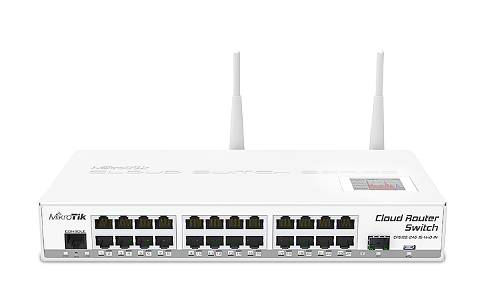 Na zdjęciu Mikrotik Cloud Router Switch